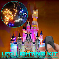 ONLY Remote LED Light Lighting Outlets Kit For LEGO 71040 For Disney Castle e`