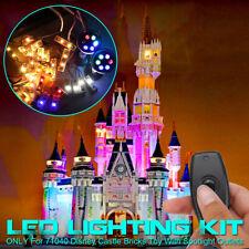 ONLY Remote LED Light Lighting Outlets Kit For LEGO 71040 For Disney Castle e`