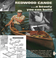 Vintage plans open Canadian Canoe Wood Strip in Cedar, diy woodworking plans
