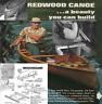 Vintage Plans Offen Kanadische Kanu Holz Streife in Zeder, Diy Holzbearbeitung