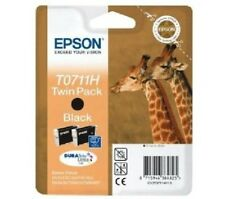 Epson T0711H Twin Black Ink Cartridges for Stylus SX400 SX405 SX415 SX600FW