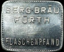 BIERMARKE: Flaschenpfand. BERG-BRÄU FÜRTH / BAYERN.