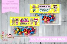 PERSONALISED BIRTHDAY PARTY LOOT BAG & TOPPER - LOL SURPRISE BALLS