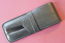 NICE Longchamp pen etui for 2/3 pens - Black genuine leather - preowned