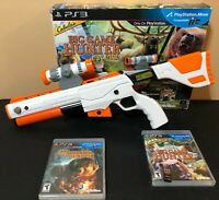 Cabela's Big Game Hunter 2012 Top Shot Elite Gun & Game PS3 Bundle Used Open Box
