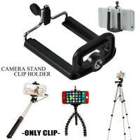 Cell Phone Tripod Clip Mount Bracket Holder Universal For Samsung iPhone Huawei