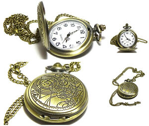 🇬🇧 Dr Doctor Who Pocket Watch Formal Gents Kids Chain Working Gift Bag UK