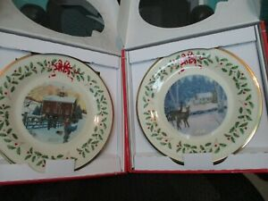 Lenox Annual Holiday Collectors Christmas Plates 2018 And 2019