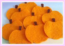 Felt Pumpkins (8) Halloween Die Cut Craft Embellishments
