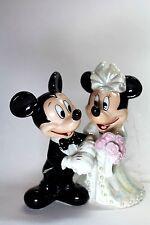 Mickey Minnie Mouse Bridal Wedding Cake Topper Figurine Shiny Disney