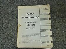 International Harvester Ih Model Ud1091 Engine Power Unit Parts Catalog Manual