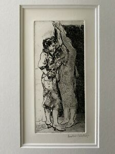 """Isabel Bishop """"Strap Hangers"""" 1940 Later Edition Etching Pencil Signed"""