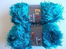 Stylecraft Eskimo eyelash yarn, Petrol (teal), lot of 2 (98 yds each)