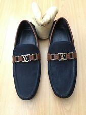 LOUIS VUITTON Para Hombre De Cuero Azul Denim HOCKENHEIM Mocasines zapatos de los controladores de Reino Unido 6 40