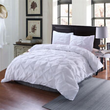 3 Piece Pintuck Unremovable Reversible Comforter with Shams Comforter Set New