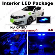 Blue LED Lights Interior Package Kit for Kia Optima w/o Sunroof 2011 & up 8Pcs