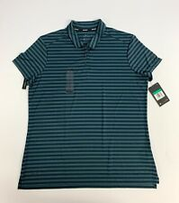 New Women's XL Nike Dri-Fit Stripe Polo Golf Shirt Green 884867 372  $55