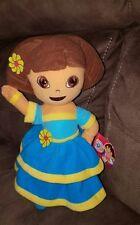 """New Nanco Dora The Explorer Nickelodeon 12"""" Plush Dora wearing ethnic dress NWT"""