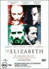 ELIZABETH (Cate BLANCHETT Geoffrey RUSH Christopher ECCLESTON) Queen Drama DVD