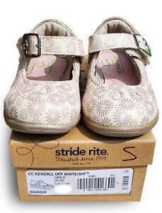 new BG40528 Stride Rite KENDAL off white Infant Toddler girls walking Mary Jane