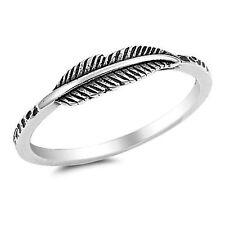USA Seller Thin Feather Ring Sterling Silver 925 Best Deal Jewelry Gift Size 10