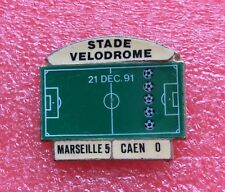 Pins Club FOOT Football O.M. Olympique de Marseille STADE VÉLODROME CAEN 5 0