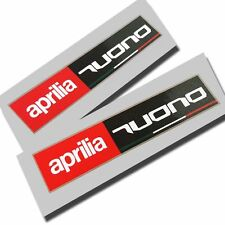 APRILIA Racing Estilo Pegatinas de gráficos motocicleta TUONO calcomanías rectángulo X 2 piezas