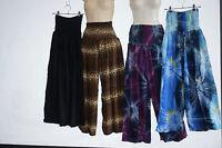 Pants gypsy Aladdin yoga Comfy loose fit beach hippy cotton Genie Harem tie dye