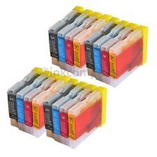 16 Drucker Tinte Patronen für Brother LC970 DCP130C DCP135C MFC230C MFC235C Set