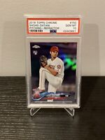 "2018 Topps Chrome Refractor Shohei Ohtani ""Pitching"" Rookie RC PSA 10 🔥📈"