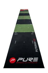 Pure2Improve - Golf Putting Mat Available in 4 Sizes Indoor/Outdoor Practice Aid