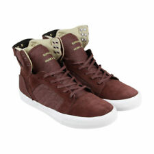 Baskets skytops rouge SUPRA pour homme
