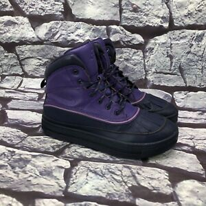 Nike Woodside 2 High Girls Purple Water-Resistant Lace Up Boots Youth Size 6.5Y