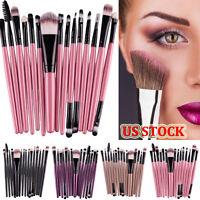 15 pcs/Sets Make Up Eye Shadow Eyebrow Lip Brush Makeup Foundation Brushes Tools
