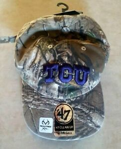TCU Horned Frogs Hat '47 Clean Realtree Camo Cap Camouflage Texas Christian New