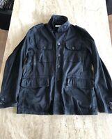Stone Island Raso Floccato Military Jacket Black XXL