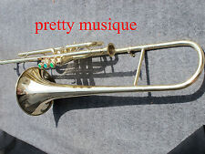 TROMBONE VALVE MADE OF PURE BRASS IN BRASS POLISH+MOUTHPC+CASE BOX+FREE SHIPPING