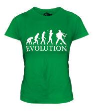 ROCK N ROLL IMPERSONATOR EVOLUTION OF MAN LADIES T-SHIRT TEE TOP GIFT