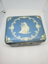 Vintage Blue and White Metal tin made in Holland blueware