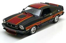 FORD MUSTANG II COBRA BLACK RED STRIPES 1976 GREENLIGHT 12891 1/18 NOIR & ROUGE