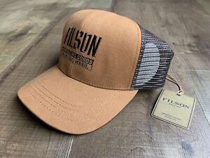 FILSON - Buckshot Twill Mesh Cap - Adjustable - Trucker Hat - Brown - Leather