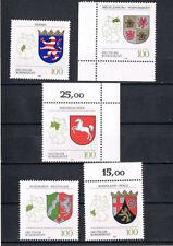 Briefmarken aus der BRD (1990-1999) mit Flaggen-und Wappen-Motiv als Satz