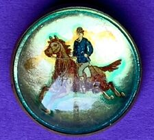 Early 20th Cen Bridle Rosette Derby Day Pinback Stallion Horse Bowler Hat Rider