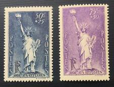 FRANCE 1936 Nansen (Refugee) Fund - Liberty - Mint hinged pair - Cat £19- (39)