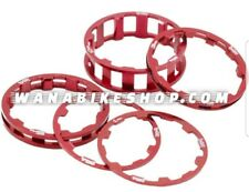"""Box One Stem Spacers 5 Pack 1""""1/8 Red"""