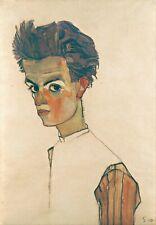 Egon Schiele Self Portrait With Stripe 12x8 inch Print