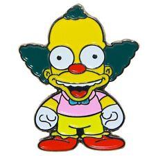Krusty The Clown Enamel Pin Simpsons Cartoon TV Movie Metal Badge Lapel