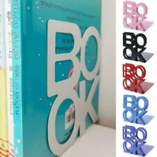 2x Heavy Duty Metal Letter Bookends Book Ends Office Supplies Stationery Q1B4