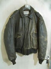 Vintage Schott IS 674 MS USA Issue Distressed Leather Flying Jacket Size 50/3XL