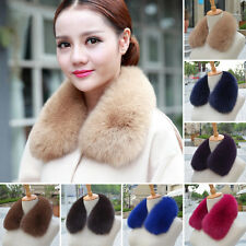 Women Winter Real Vulpes lagopus Fox Fur Collar Scarf Xmas Party Wedd Soft Wrap